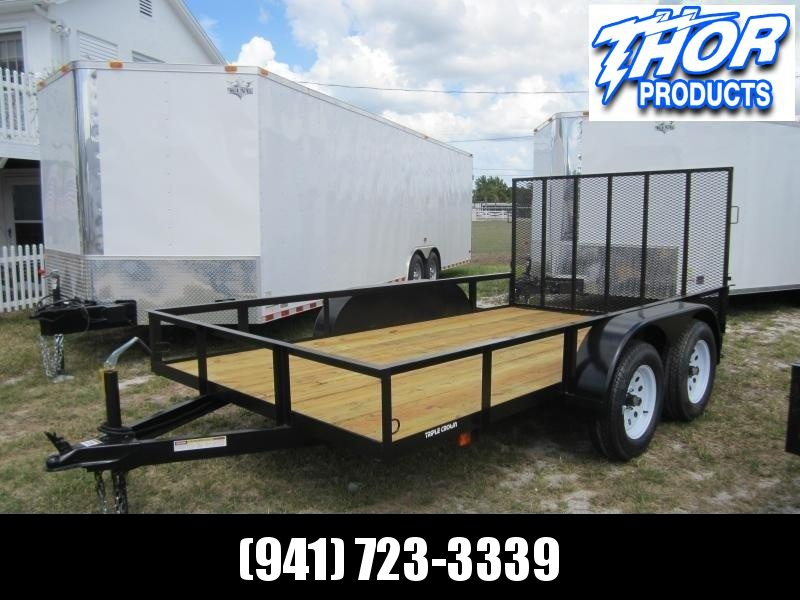 "IN STOCK! 6'4"" X 12' TA Utility Trailer w/1 axle brake and ramp LED Lights"