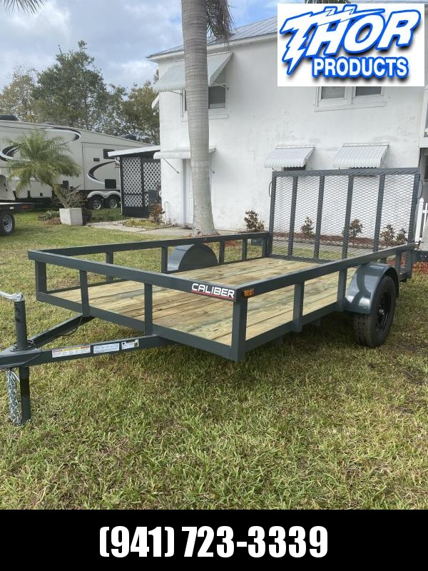 IN STOCK! GRAY 6.5x12 Utility Trailer w/Tube Top * LED lights * Ramp * Radial tires