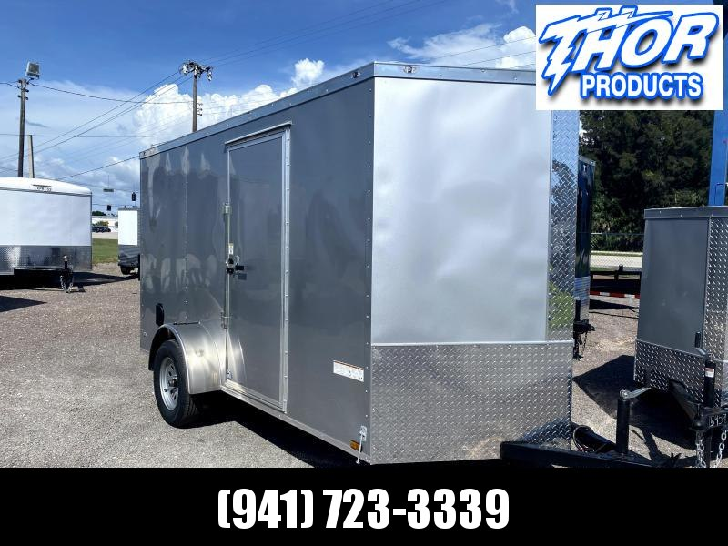 IN STOCK! 6 x 12 SA Trailer Ramp Door and side door SILVER