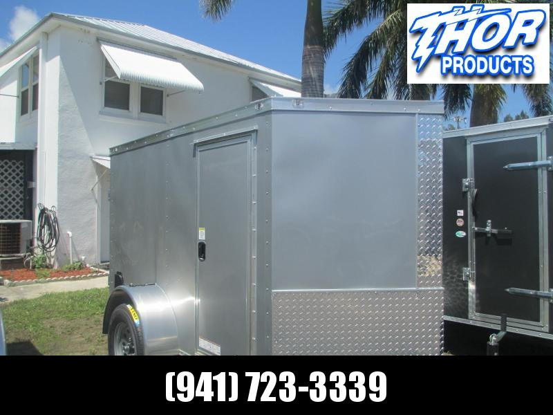BARELY USED 5 x 10 SA Enclosed Trailer w/side and Ramp Door Silver