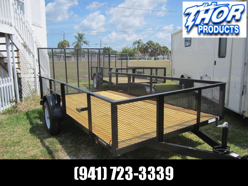 NEW 6'4 x 12 SA Utility Trailer W/2' Mesh sides LED Lights and Ramp and Radial Tires