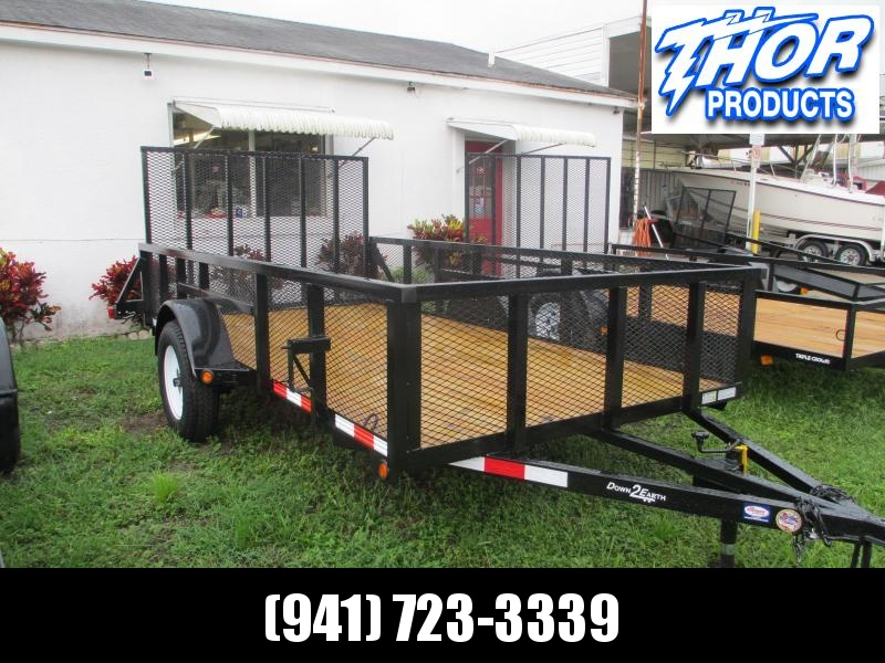 "IN STOCK!  6'4"" x 12 SA Utility Trailer W/Tube top 2ft MESH Sides"