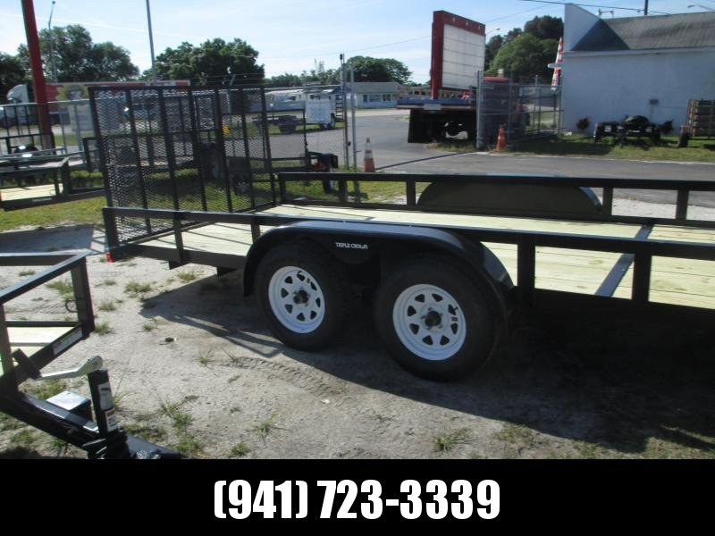 IN STOCK!  7X20 H/D UTILITY TRAILER T/A 2 axle Brakes w/Ramp