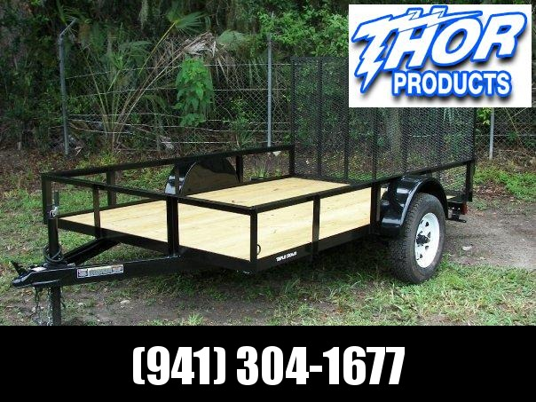 NEW 6'4 x 10 SA Utility Trailer w/LED Lights and Ramp and Radial Tires