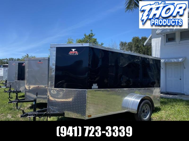 NEW 5 x 10 SA Enclosed Trailer w/side and Ramp Door BLACK W/ATP sides