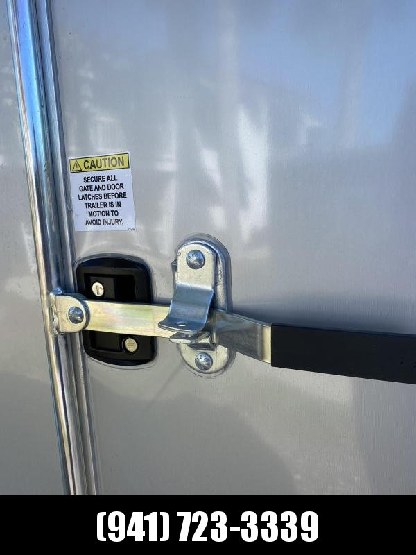 IN STOCK!! 7x16 Trailer Silver w/Ramp and side door!!  Aluminum Sidewall Vents