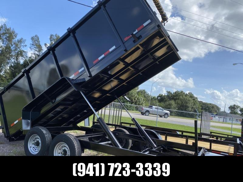 IN STOCK! 7x14 TA 14K Dump Trailer with 4' SIDES Ramps and Tarp Included