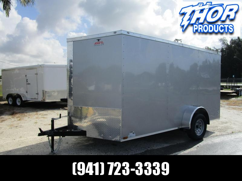 IN STOCK! 7X12 SA Enclosed Trailer with a Ramp in SILVER