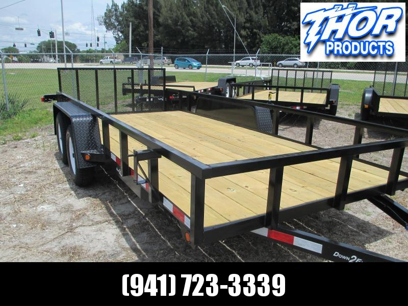"IN STOCK! 6'4"" x 16 TA Utility Trailer W/2 axle brakes Ramp Tube Top LED Lights RADIAL TIRES"