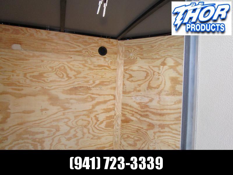 5x8 V-nose Trailer Ramp door and Side Door CHARCOAL