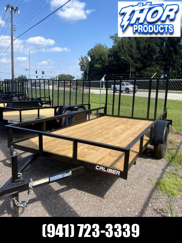 IN STOCK! 6X12 Utility Trailer w/LED lights * Ramp * RADIAL TIRES