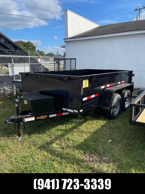 """IN STOCK! 6x10 TA 7K Dump Trailer with 2-WAY GATE 24"""" SIDES"""