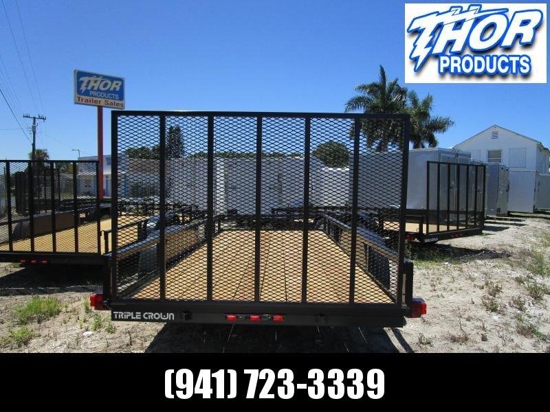 NEW 6'4 x 16 TA Utility Trailer with Ramp 2 axles have brakes LED AND RADIALS