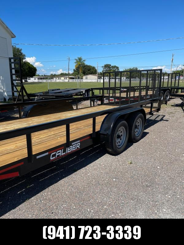 IN STOCK!  7X20 H/D UTILITY TRAILER T/A 2 axle Brakes w/Ramp TUBE TOP & UPRIGHTS