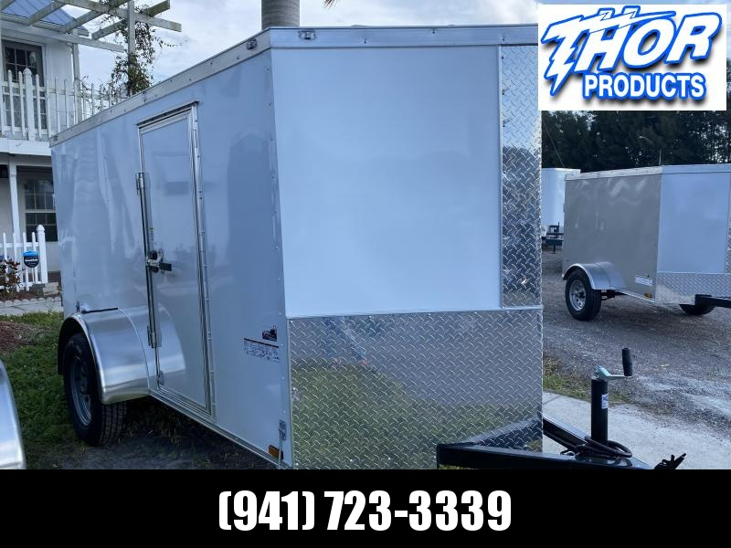 NEW 5 x 10 SA Enclosed Trailer w/side and Double Door White
