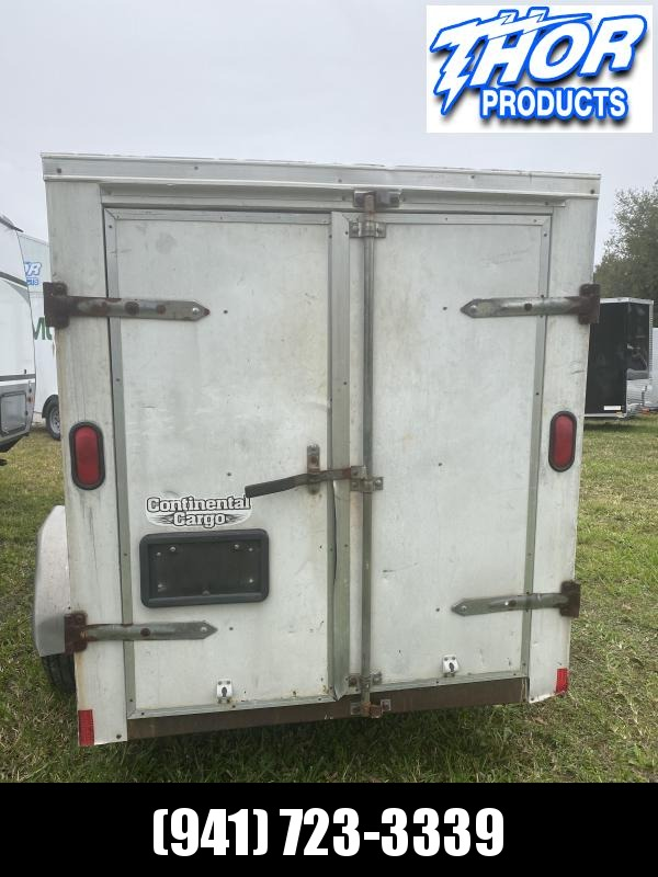 USED 5x8 Enclosed Cargo Trailer Side and Rear Double Doors