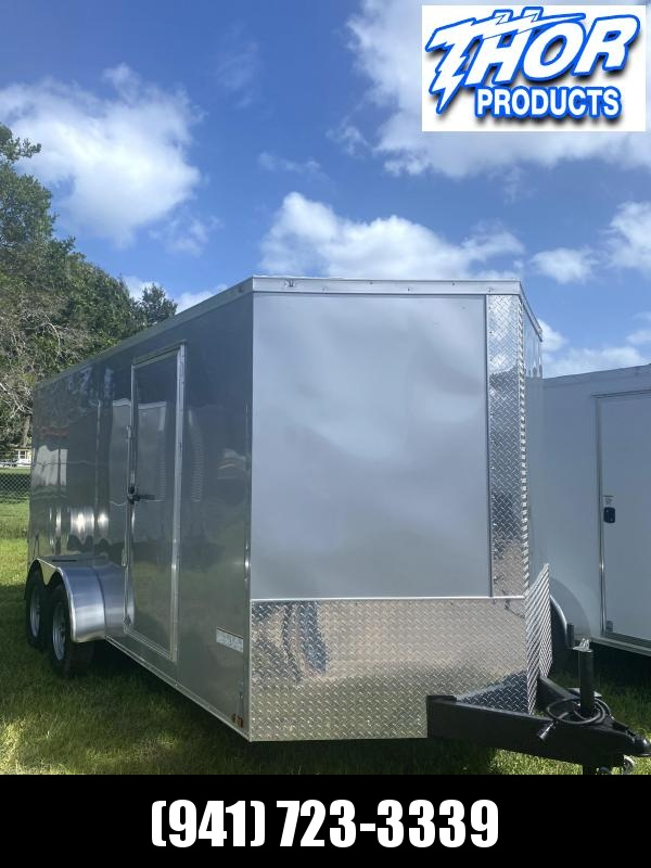 NEW 7 x 16 TA Trailer DOUBLE REAR DOORS SILVER