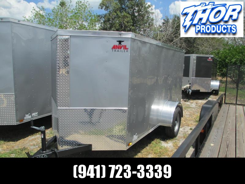 5x8 V-nose Trailer Ramp door and Side Door SILVER