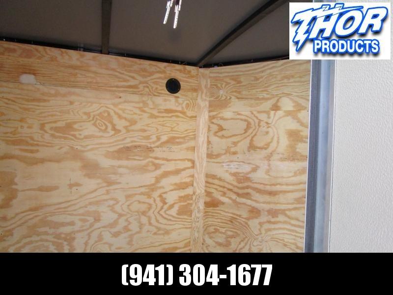 5x8 V-nose Trailer Ramp door and Side Door SILVER