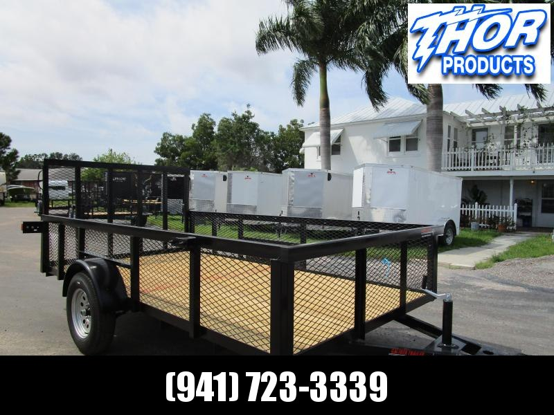 IN STOCK! 6x12 Utility Trailer w/Tube Top 2ft Mesh Sides* LED lights * Ramp * Radial tires
