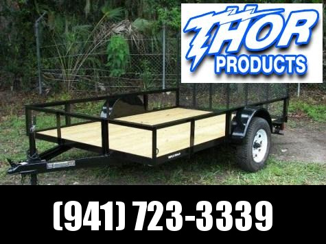 IN STOCK!  6.4 x 12 SA Utility Trailer w/Ramp LED Lights
