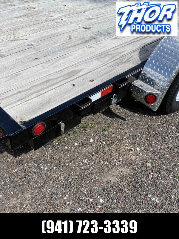 USED 2018 PJ Car / Racing Trailer Includes spare Ramps slide in E-track