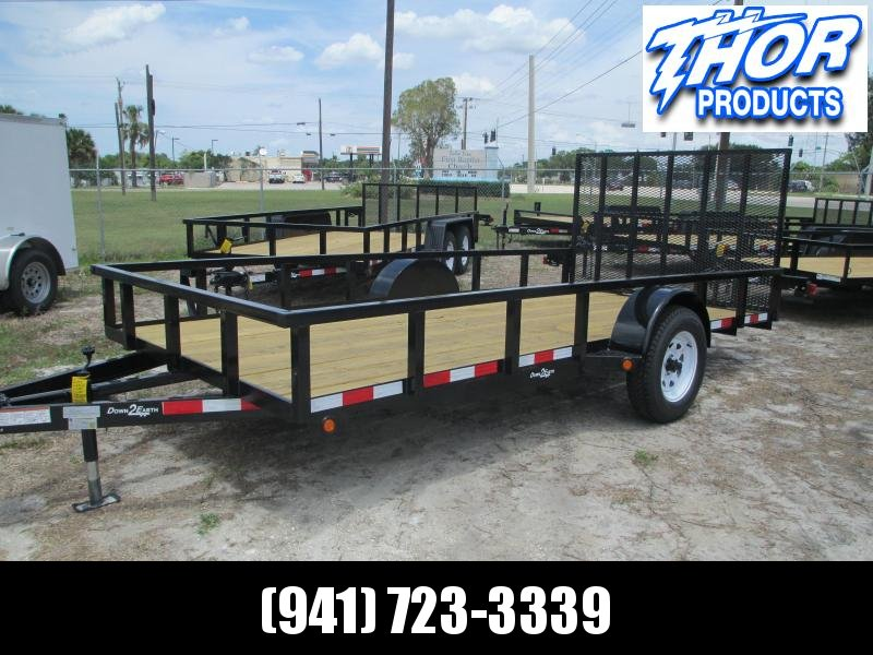 "IN STOCK! 6'4"" x 14 SA Utility Trailer Tube Top Ramp LED Lights"