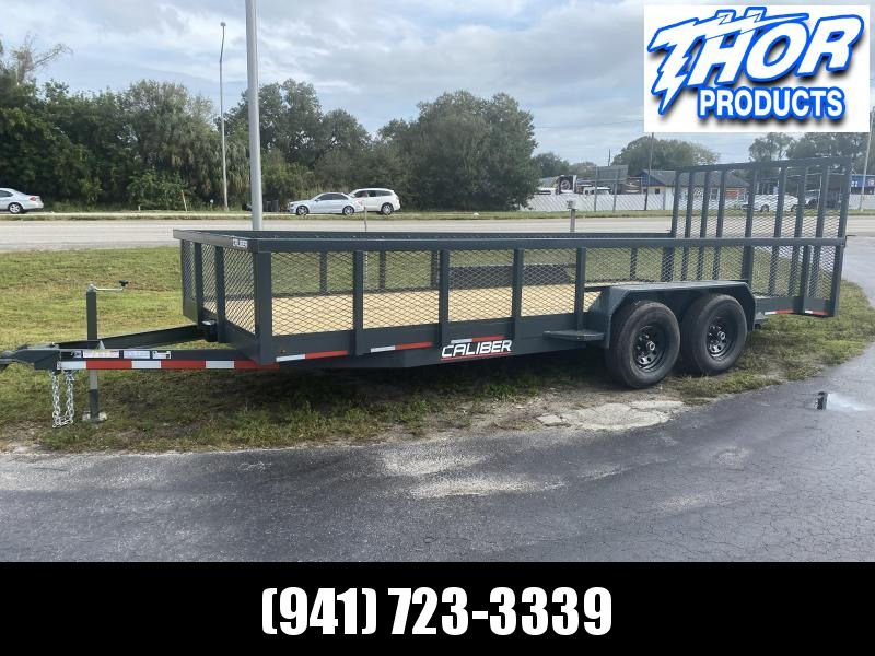 IN STOCK! 7X20 10K MAGNUM II Utility Trailer w/2' Mesh sides and Ramp !! HEAVY DUTY!!