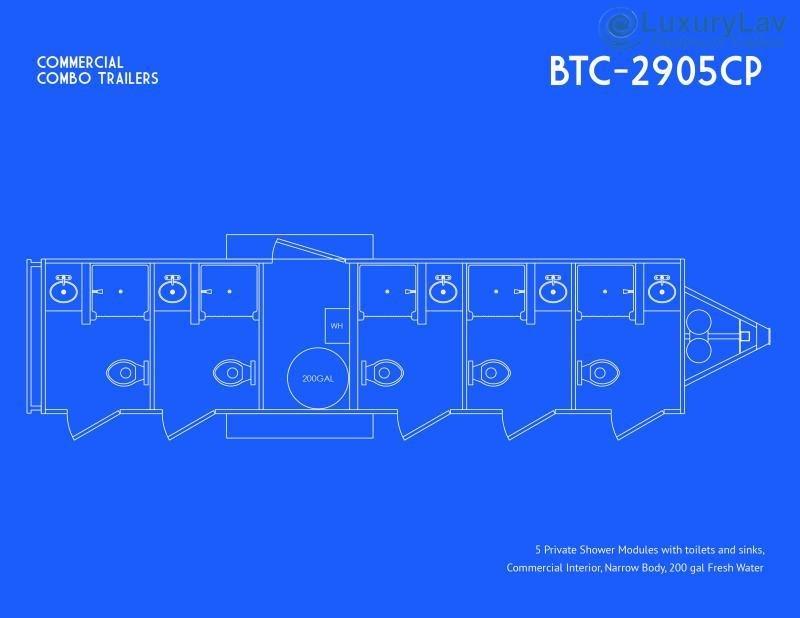 105 A LuxurLav 5 Stall OPT Combo BT Trailer