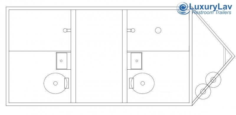 102 A OI 2 Stall Combo Restroom / Shower Trailer