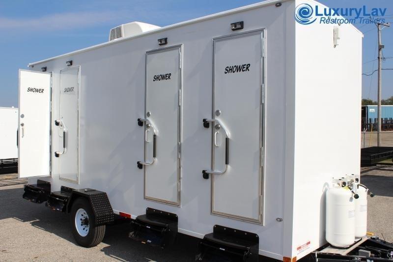 104 LuxuryLav 4 Stall Private Shower Trailer