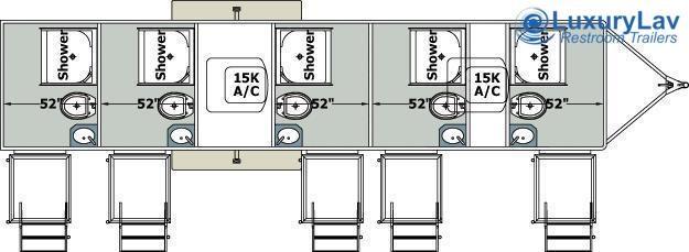 105 LuxuryLav 5 Stall Combo