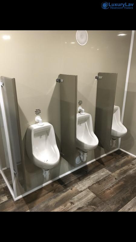 110 LuxuryLav FR Wide Body Denali 10 Stall Restroom Trailer