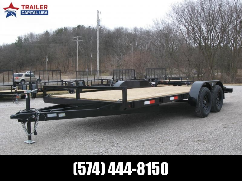 2021 BND Flat Bed Car Hauler 7x18 Utility Trailer