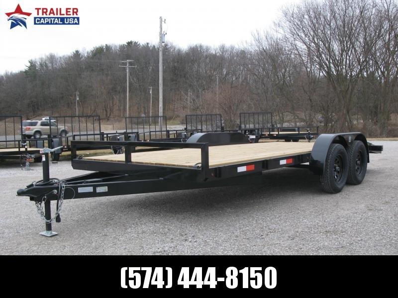 2021 BND Flat Bed Car Hauler 7x18 Utility Trailer