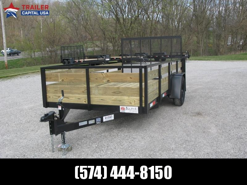 2021 BND 6x12 High Sides Open Utility Trailer