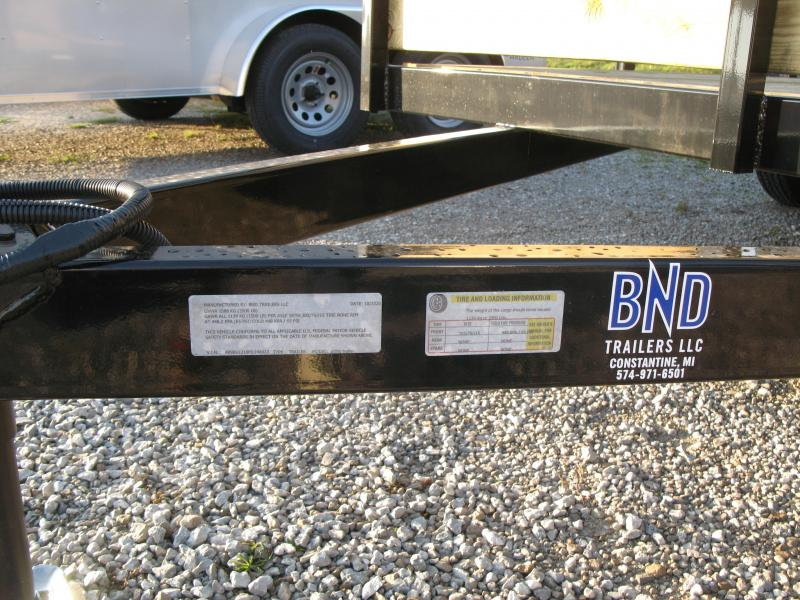 2021 BND 7x12 High Side Open Utility Trailer