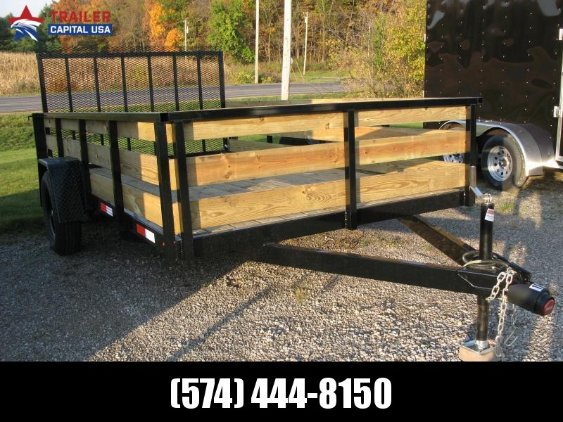 2021 BND Trailers 6x12 High Side Open Utility Trailer