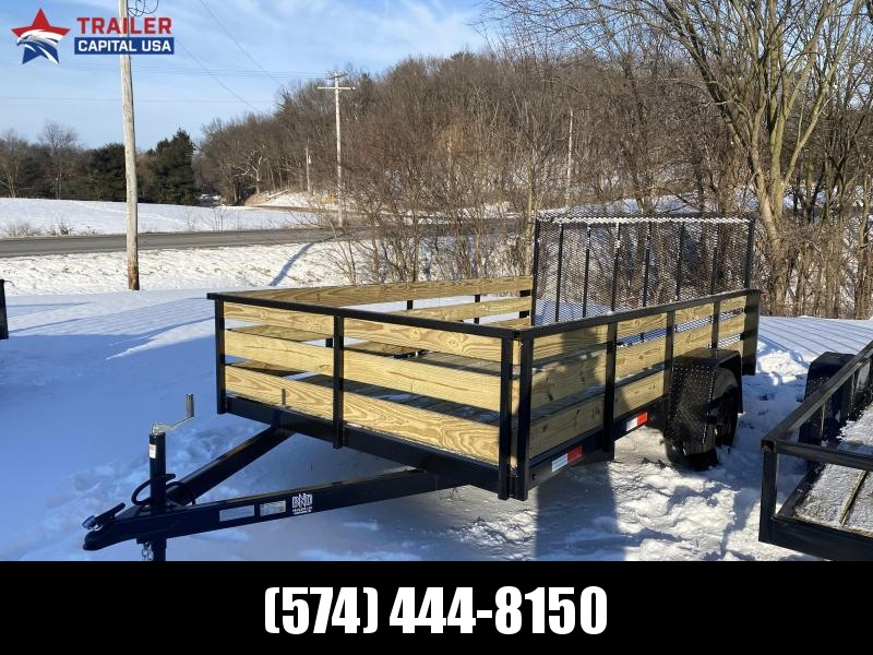 2021 BND Trailers 7x12 High Side Open Utility Trailer