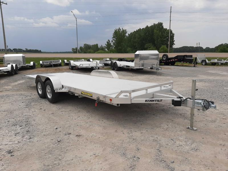 2021 Aluma 8220H-TILT-TA-EL-RTD Car / Racing Trailer