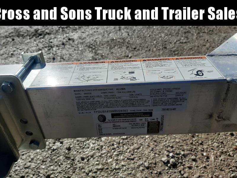 2021 Aluma 7814ESW Utility Trailer