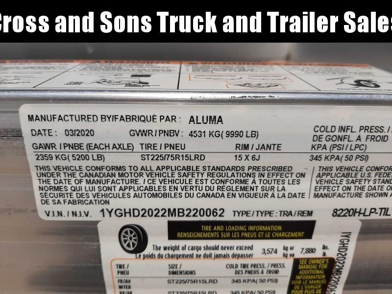 2021 Aluma 8220H-LP-TILT Car / Racing Trailer