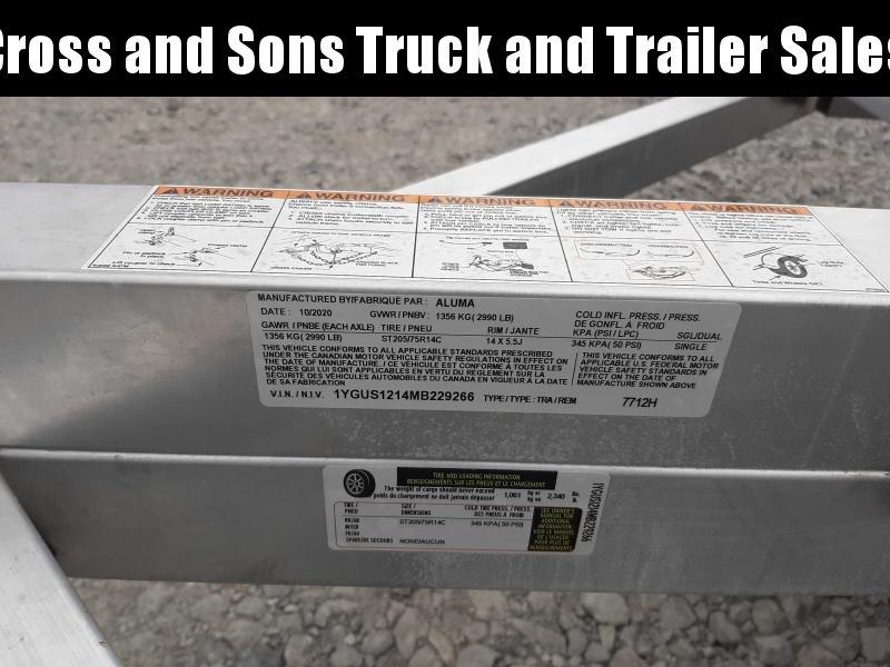2021 Aluma 7712H BT Utility Trailer