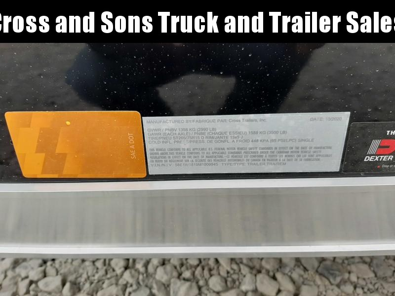 2021 Cross Trailers 58SA Enclosed Cargo Trailer