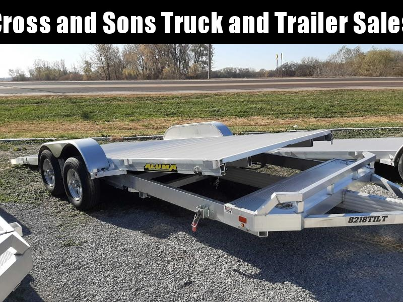 2021 Aluma 8218TA-EL-TILT Car / Racing Trailer