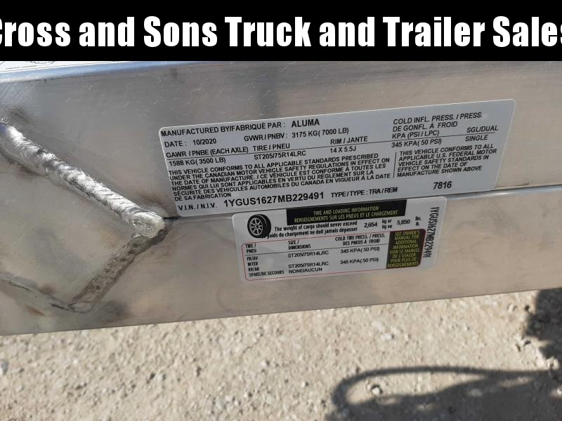 2021 Aluma 7816BT Utility Trailer