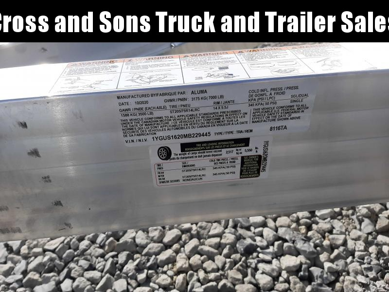2021 Aluma 8116TA BT Utility Trailer
