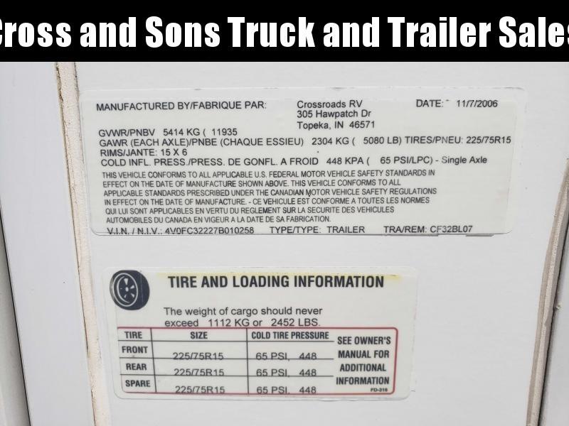 2007 Crossroads CF32BL07 Specialty Trailer