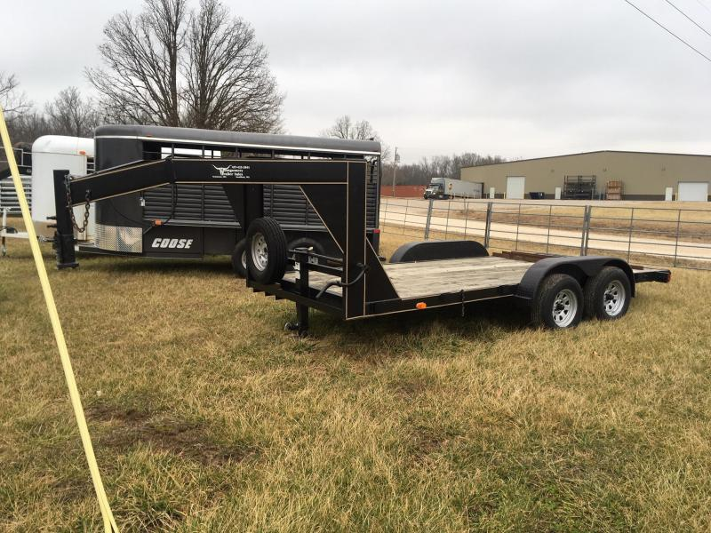 1995 R and W Trailers Low boy Gooseneck Flatbed Trailer