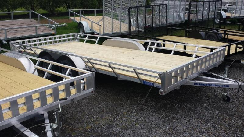 2020 Mission 83x18 Aluminum 4 Place ATV Trailer